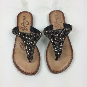 Naughty Monkey Jeweled Sandals - 7